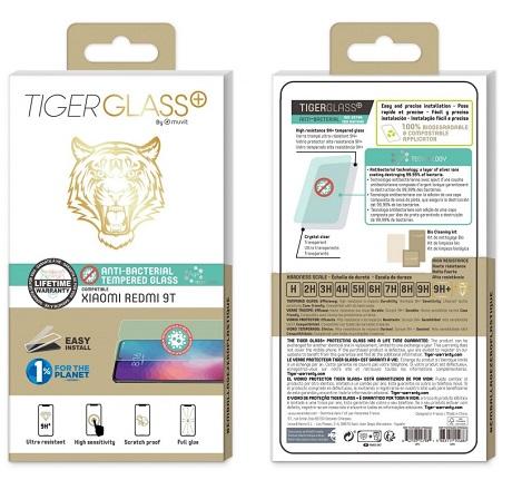 Film Tiger Glass+ Xiaomi Redmi 9T transparente