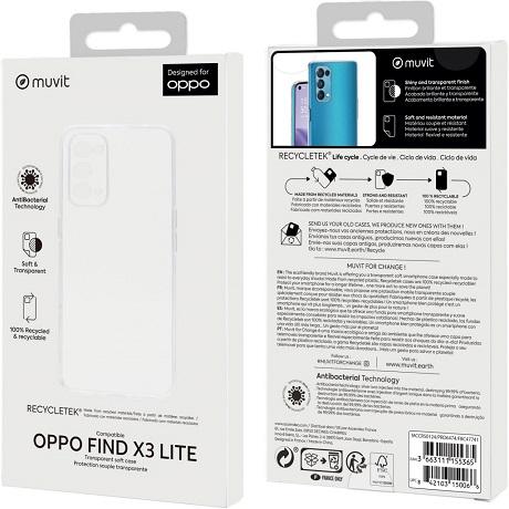 Coque Recycle Tek Oppo Find X3 Lite transparente
