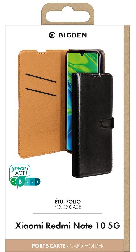 Etui folio Wallet Xiaomi Redmi Note 10 5G noir
