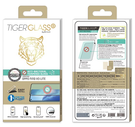 Film Tiger Glass+ Oppo Find X3 Lite 5G transparente