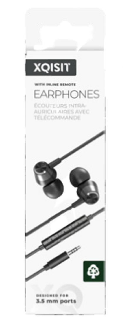 Ecouteurs stéréo filaires jack 3,5mm noir