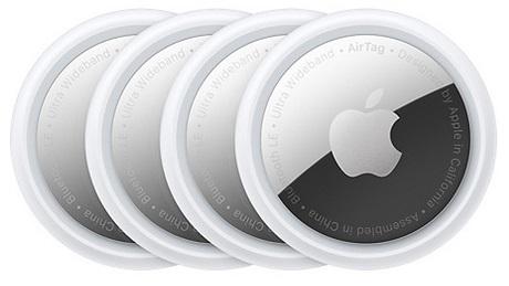AirTag-Pack de 4 blanc/argent