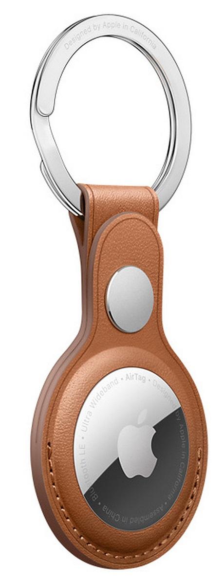Porte-clés en cuir AirTag-Havane
