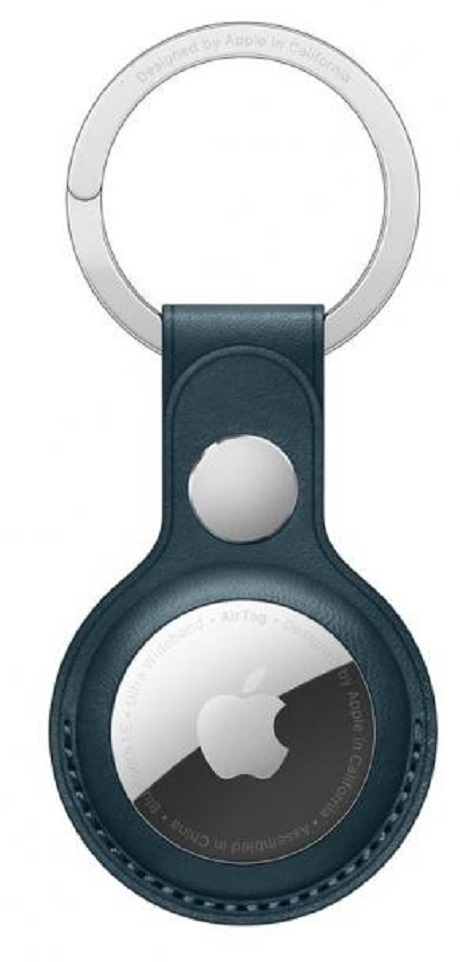 Porte-clés en cuir AirTag - bleu marine