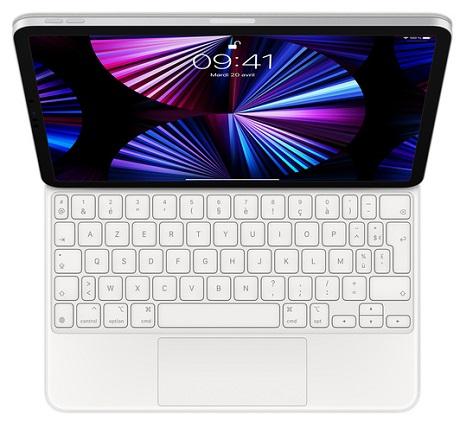 Magic Keyboard iPad Pro 11et iPad Air blanc