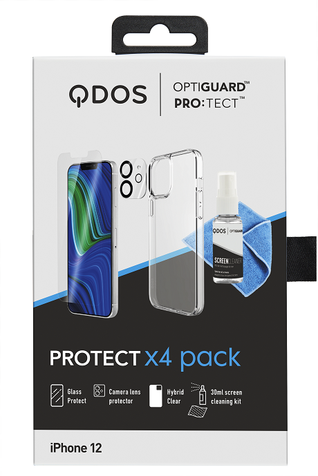 Protect Pack iPhone 12 blanc