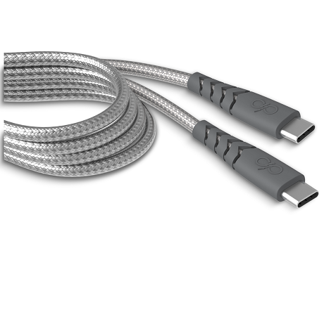 Câble renforcé USB-C vers USB-C Force Power 2m gris
