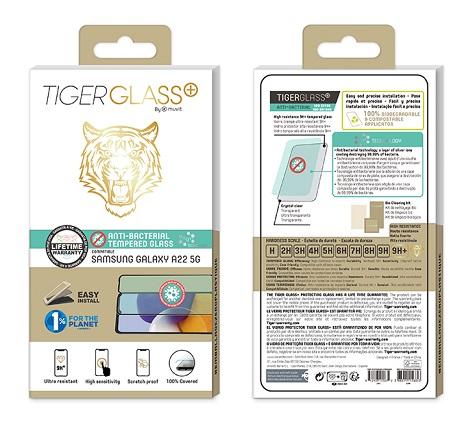 Film Tiger Glass+ Samsung A22 5G transparente