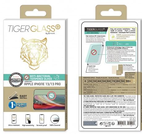 Film Tiger Glass+ iPhone 13 et 13 Pro transparente