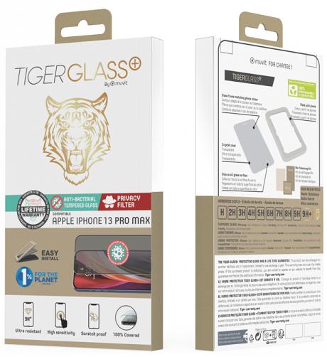 Film Tiger Glass+ Privacy iPhone 13 et 13 Pro transparente