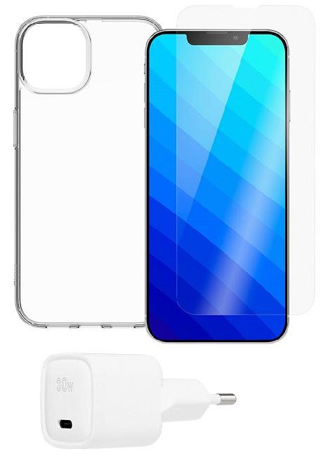 Coque Hybrid QDOS iPhone 13 mini transparente