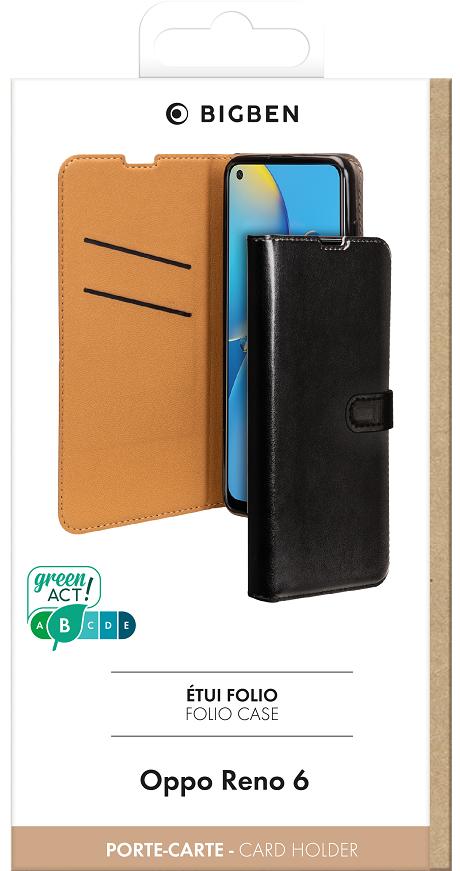 Etui folio Wallet Oppo Reno6 5G noir