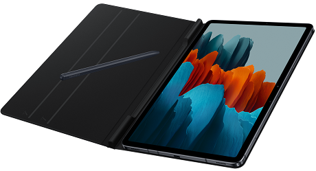 Book Cover Samsung Galaxy Tab S7 V2 noir
