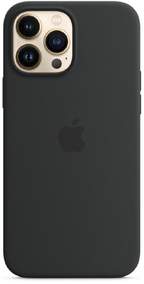 Coque en silicone MagSafe Apple iPhone 13 Pro Max noir