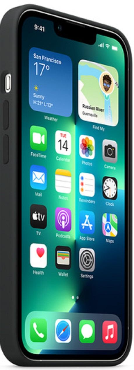 Coque en silicone MagSafe Apple iPhone 13 Pro noir