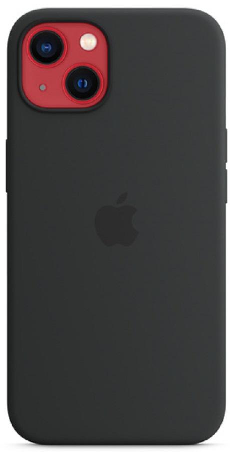 Coque en silicone MagSafe Apple iPhone 13 noir