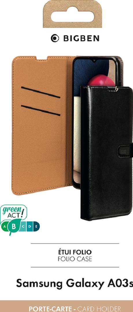 Etui folio Wallet Galaxy A03s noir