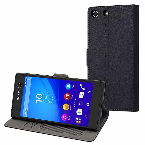 Etui wallet Xperia M5 noir