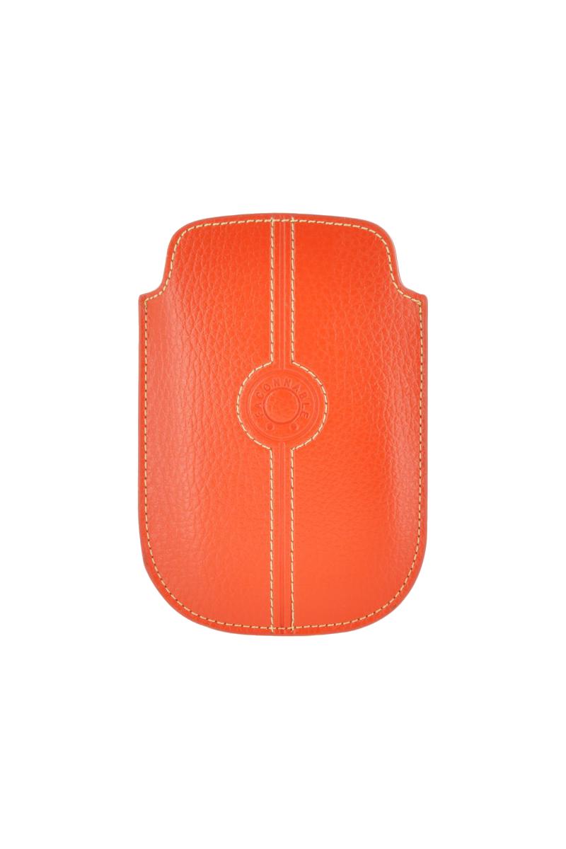 Etui cuir universel petit Façonnable orange