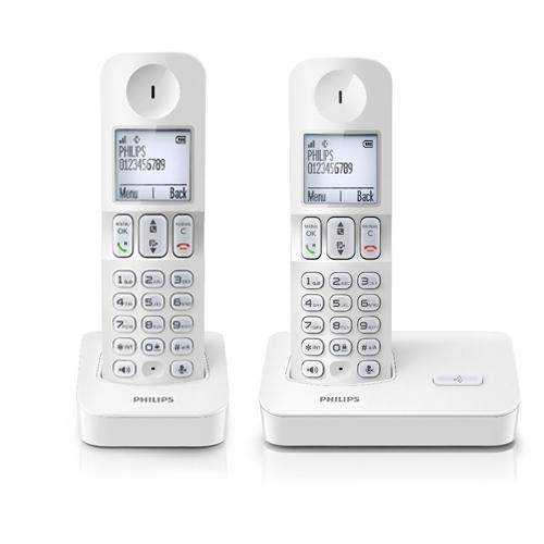 Téléphone sans fil Philips D400 duo