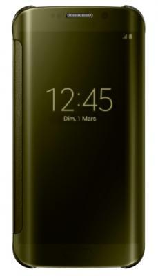 Clear View Samsung Galaxy S6 Edge Gold