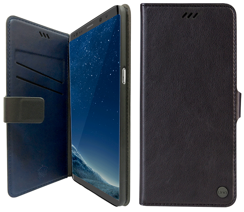 Etui folio Uniq JOURNA Galaxy S9 noir