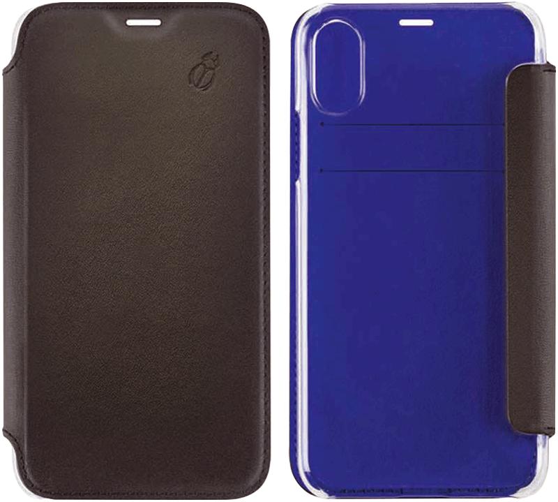 Etui folio Beetle Case iPhone Xs noir