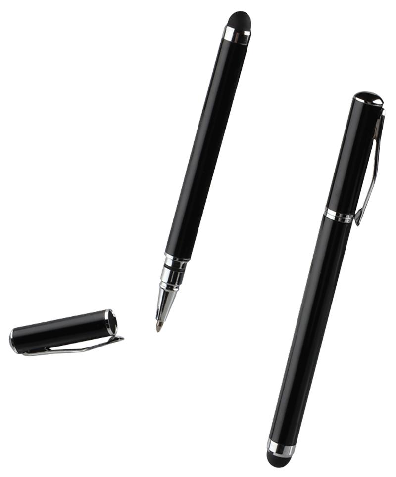Stylet avec embout et fonction stylo noir