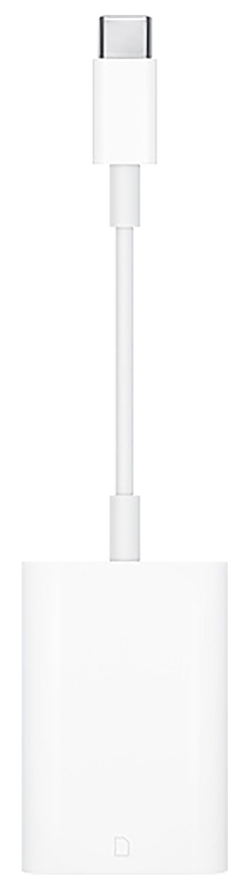 Adaptateur USB-C vers lecteur de carte SD blanc