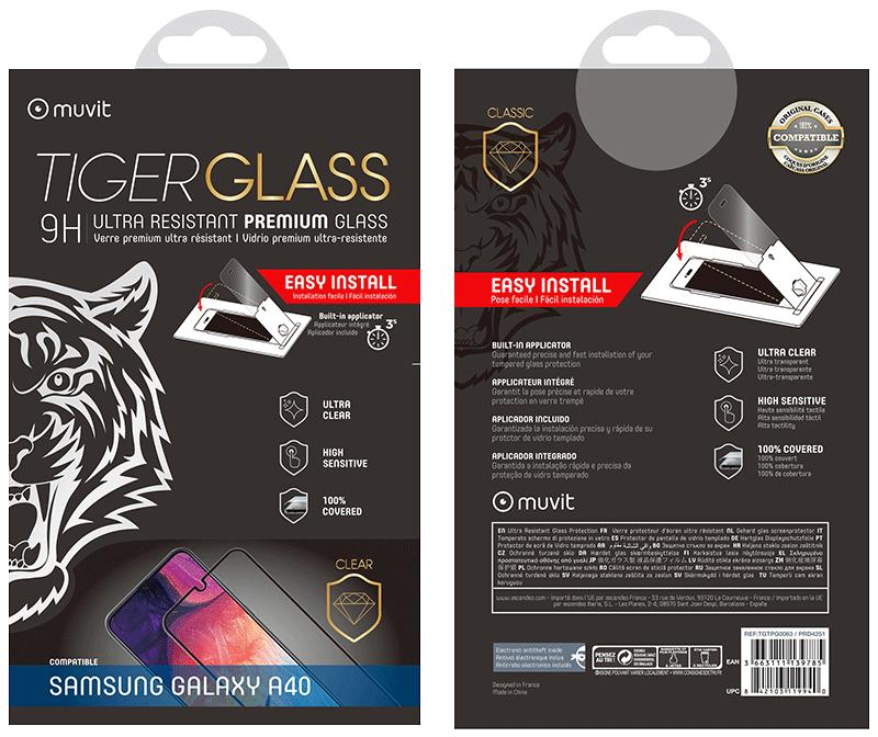 Film Tiger Glass Galaxy A40 transparente