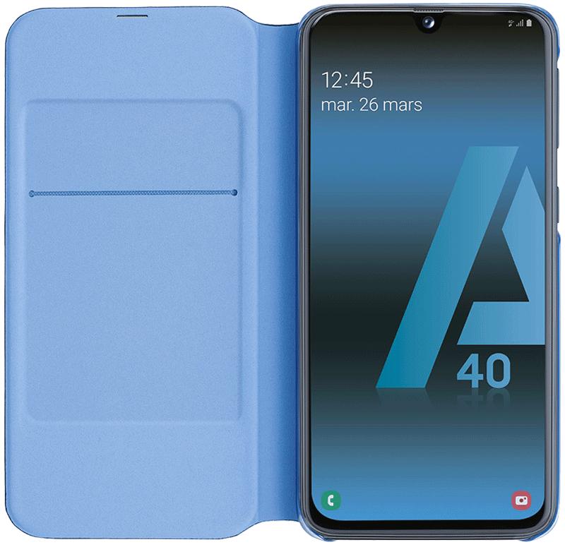 Etui folio Samsung Galaxy A40 noir