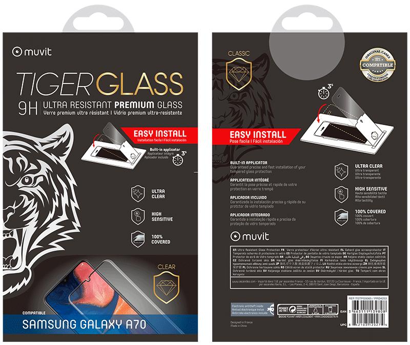 Film Tiger Glass Galaxy A70 transparente