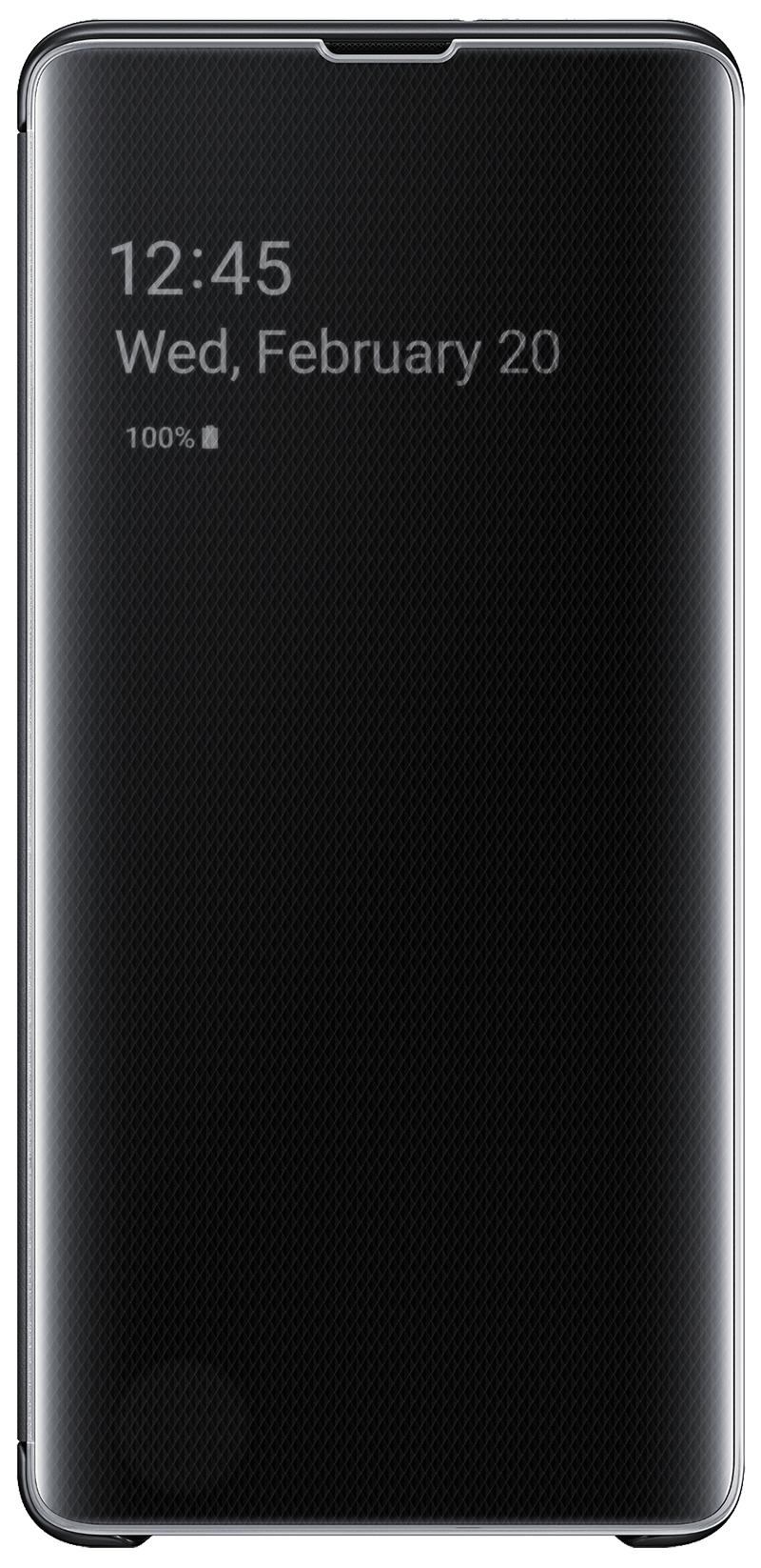 Clear View Galaxy S10 Plus noir