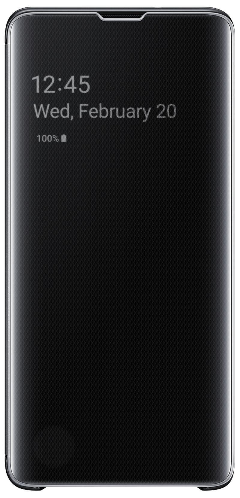 Clear View Galaxy S10 noir