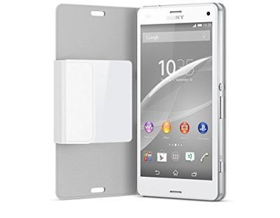 Etui folio Style-Up Z3 Compact blanc