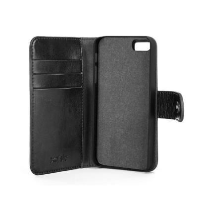 Etui  Xqisit 2 en 1 Wallet Case Eman pour iPhone 5S noir