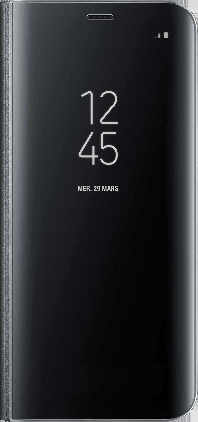 Clear View Galaxy S8 noir