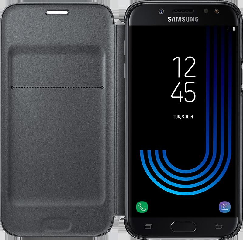 Etui Wallet Galaxy J5 2017 noir