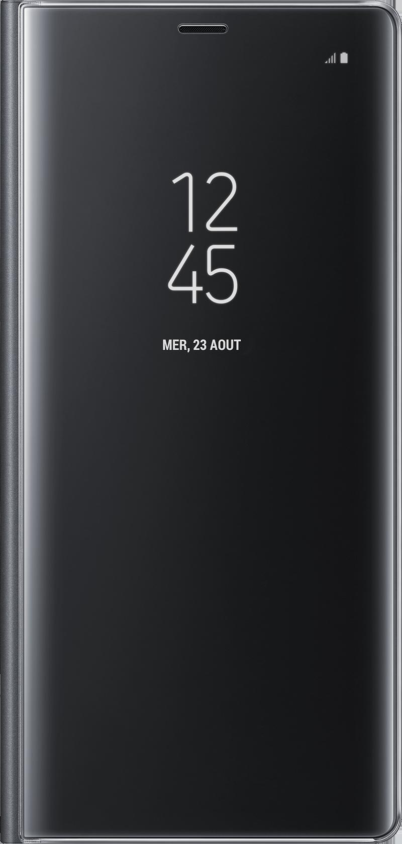 Clear View Galaxy Note 8 noir