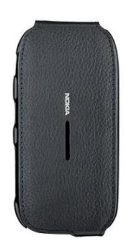 Etui Cuir Noir Nokia C7