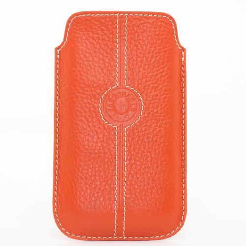 Etui cuir universel grand Façonnable orange