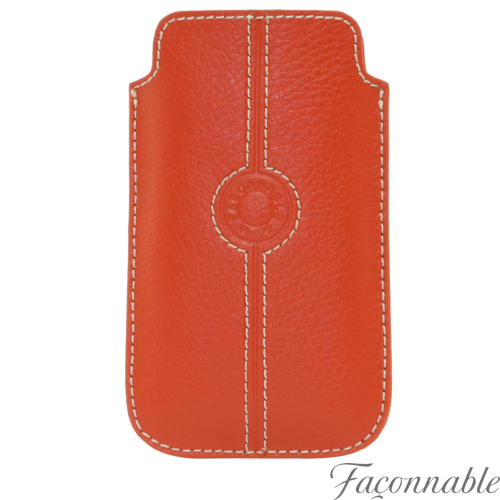 Etui cuir universel moyen Façonnable orange