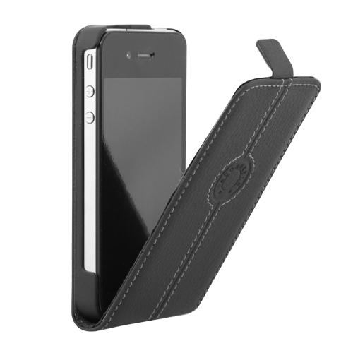 Etui Cuir Flap Façonnable iPhone 4 Noir