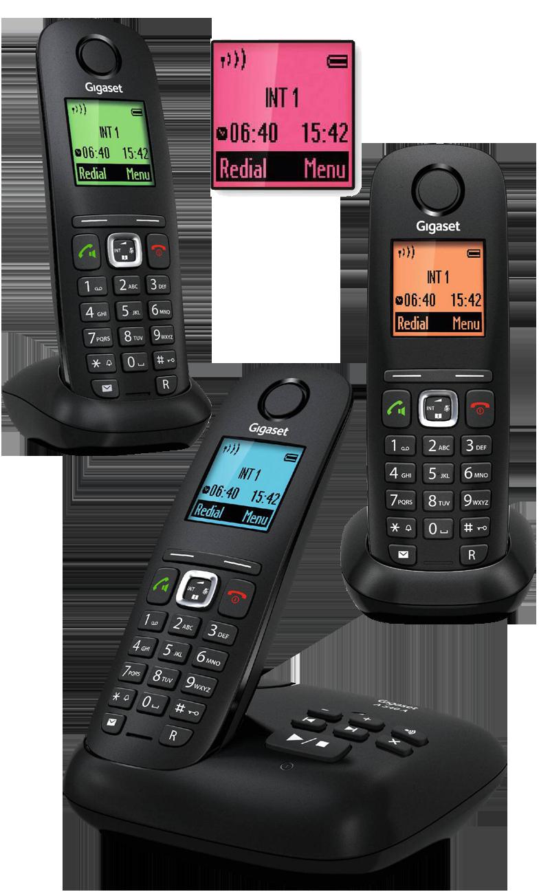 Téléphone fixe Gigaset A540 trio répondeur
