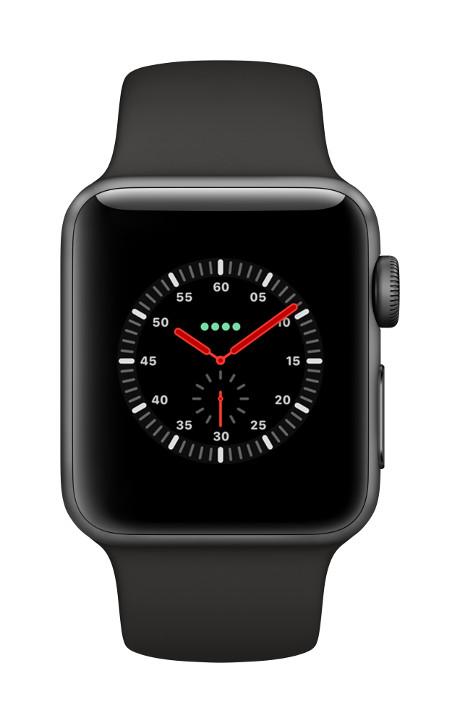 Apple Watch Series 3 4G boîtier 38mm gris sidéral 16Go