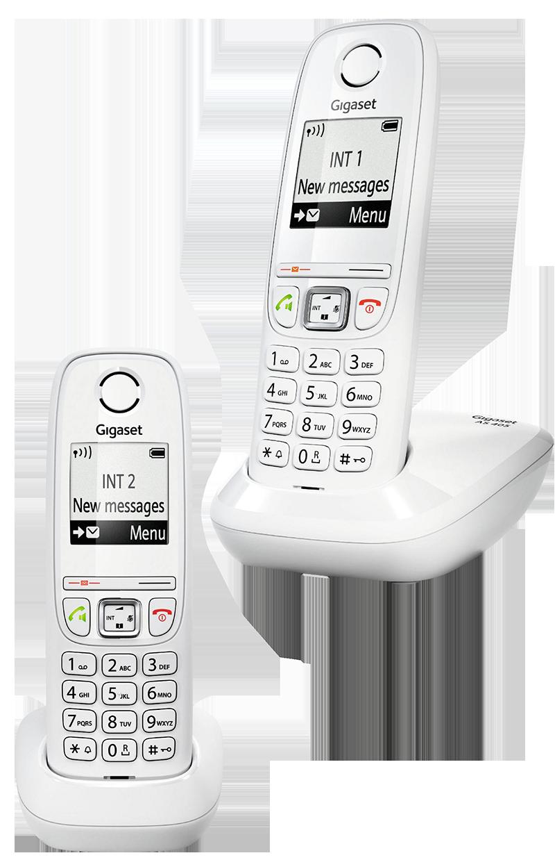 Téléphone fixe Gigaset AS 405 duo Blanc