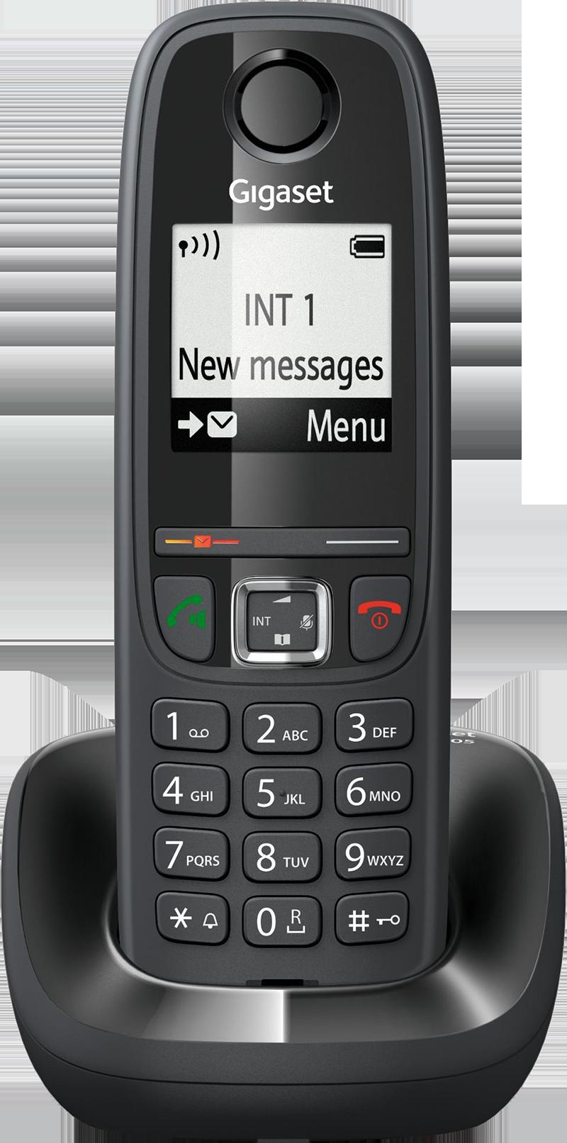 Téléphone fixe Gigaset AS 405 Solo Noir