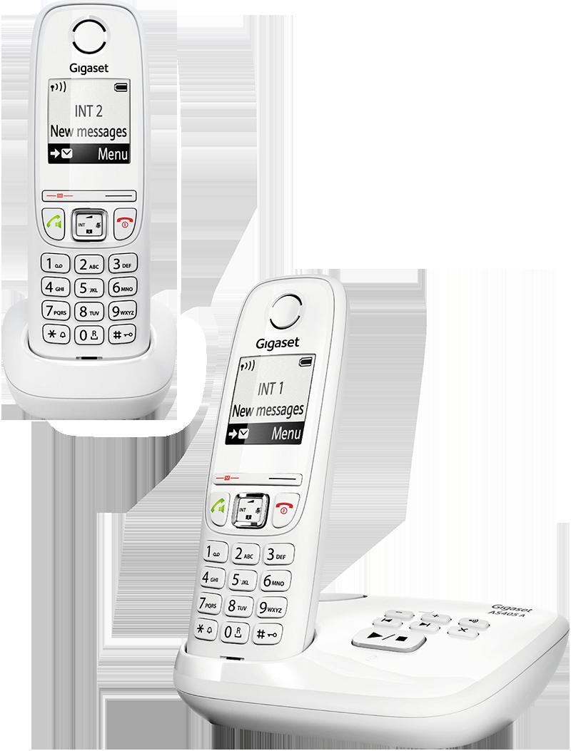 Téléphone fixe Gigaset AS 405 A Duo Blanc avec répondeur