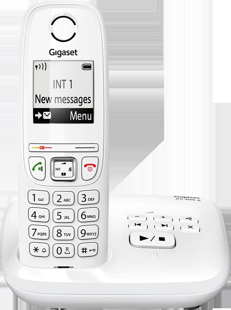 Téléphone fixe Gigaset AS 405 A Solo Blanc avec répondeur