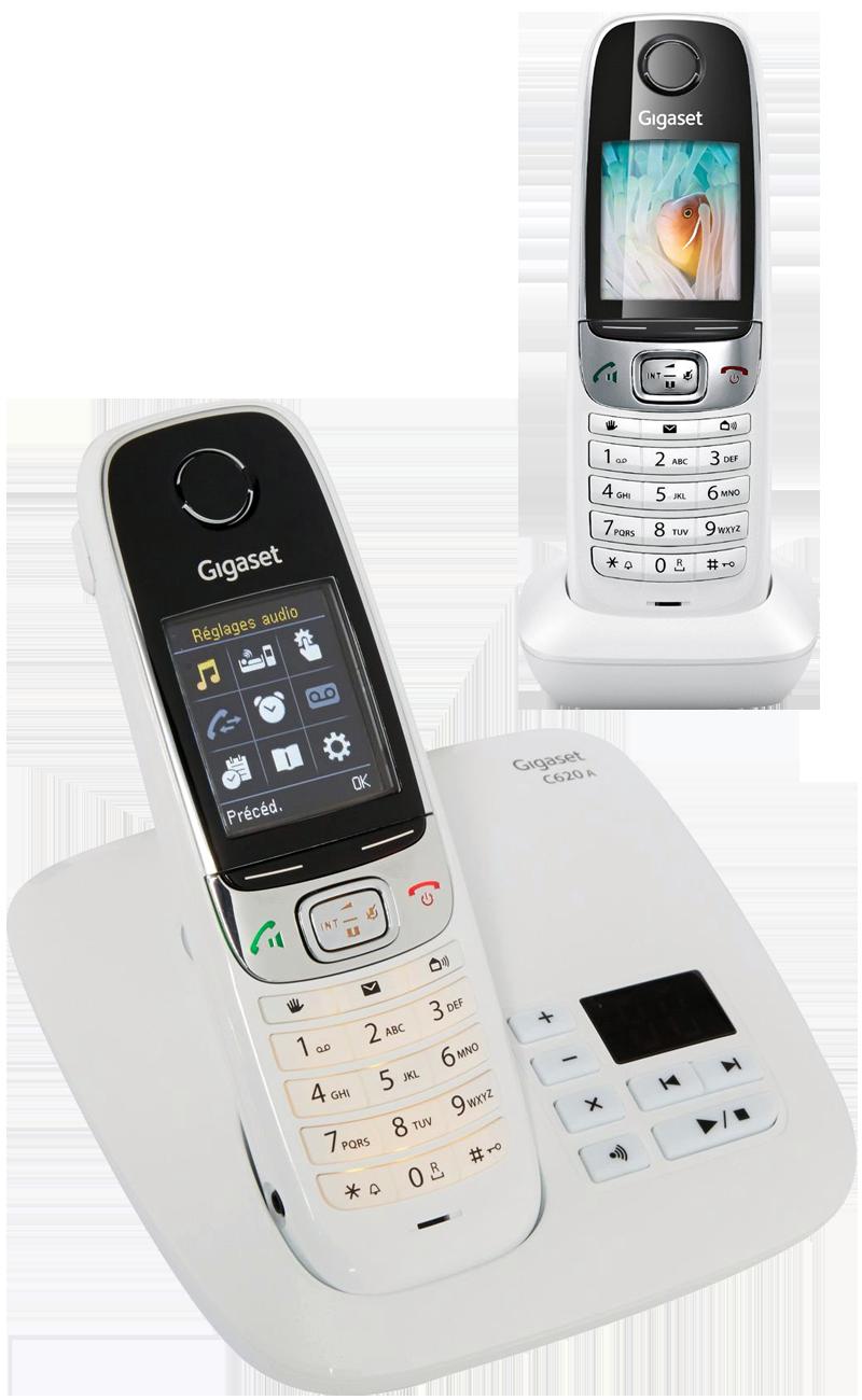 Téléphone fixe Gigaset Siemens C620A duo avec répondeur